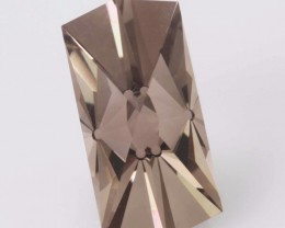 "10.91ct PRECISION MASTERCUT BRAZILIAN SMOKEY QUARTZ GEM - "" NEO """