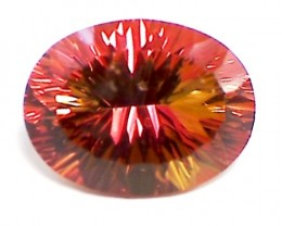 Huge17ct Tangerine Orange Mystic Topaz color sparks VVS A66