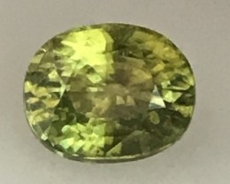 1.52ct Yellowish Green African Titanite - Sphene - VVS A230 F61G213