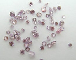 NATURAL-ARGYLEPINK DIAMOND -1CTWLOT-2MM-2.3MMSIZE,NR