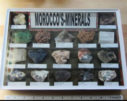1.6 KILO MOROCCOS MINERALS DISPALY CASE MS 1946