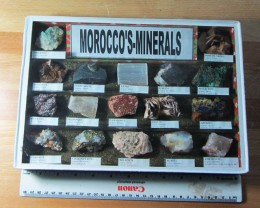 1.6 KILO MOROCCOS MINERALS DISPALY CASE MS 1947