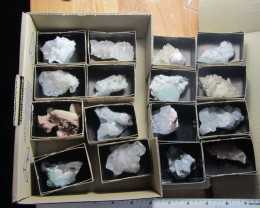 KILO 16   MIXED MINERAL/ CRYSTAL SPECIMENS IN TRAY MS 1950