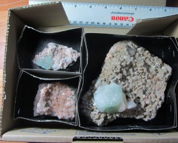 1 KILO MIXED MINERAL/ CRYSTAL SPECIMENS IN TRAY MS 1956