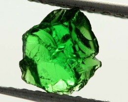 0.73 CTS TSAVORITE (GREEN GARNET) ROUGH CRYSTAL [MGW3513]