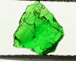 1.22 CTS TSAVORITE (GREEN GARNET) ROUGH CRYSTAL [MGW3519]