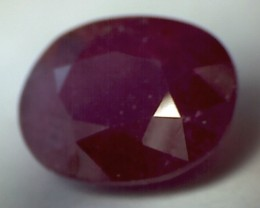 4.5ct large Faceted Pinkish Red Ruby - a pretty ruby - A81