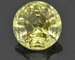 IDAR OBERSTEIN 'Ashlea' cut Olive Quartz 9.63ct 14 x 9mm