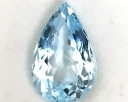 5.65ct Sparkling Sweet Blue Tear Drop Topaz VVS - A37 F62