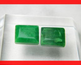 23cts 14x11mm Natural Brazil Emerald Faceted Stone Z318
