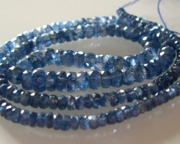 TOP QUALITY STRAND OF NATURAL BLUE TANZANITE 45CMS...95 CTS
