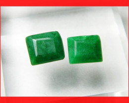 15cts 12x10mm Natural Brazil Emerald Faceted Stone Z325