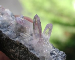 40.75g AMETHYST QUARTZ CRYSTAL CLUSTER FROM VERA CRUZ MEXICO