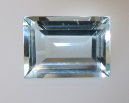1.06cts Natural Aquamarine Baguette Cut