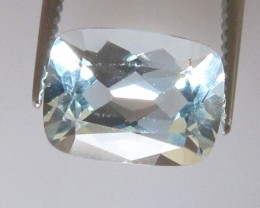 1.26cts Natural Aquamarine Cushion Cut
