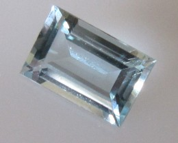 0.91cts Natural Aquamarine Baguette Cut