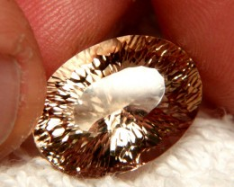 14.5 Carat VVS1 South American Concave Cut Topaz - Superb