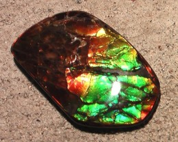 LARGE FLASHY & BRIGHTLY COLORED NATURAL AMMOLITE GEMSTONE