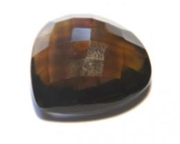 21.5mm Heart shape CUSHION CUT SMOKEY QUARTZ faceted gem