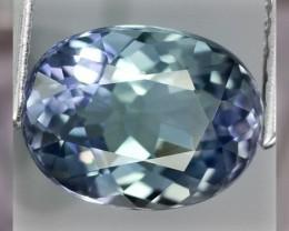 100% Natural Tri Colored Tanzanite 1.56cts ~ Tri colored