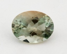 1.1ct Green Clear Oval Sunstone (S1363)