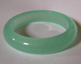 VERY NICE GREEN JADE JADEITE BANGLE 61 CMS