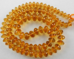 ABSOLUTELY MAGNIFICENT AAA++ 5-8MM MADEIRA CITRINE ROUNDELS
