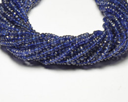 "IOLITE faceted beads 13.75"" line 3.5-4mm  iol002"