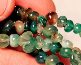 131 Tcw. Indian Agate Strand - 15.5 Inches