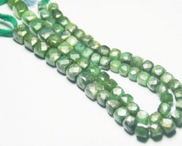 "9"" line 9 to 10mm EMERALD box checker cut beads emb01"