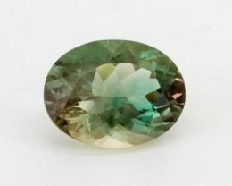 2ct Oregon Sunstone, Champagne/Green Oval (S1307)