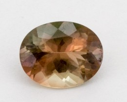 2ct Oregon Sunstone, Green/Peach Oval (S1296)