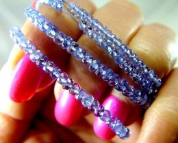 QUALITY TANZANITE BEADS  DRILLED 14 MM   40   CTS  SG-J