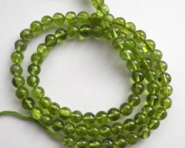 5.00MM UNHEATED/UNTREATED ROUND PERIDOT BEADS