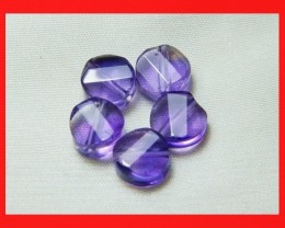 12cts 8mm Natural Brazil Amethsyt Faceted Beads Z513