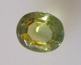 0.56cts Natural Australian Yellow Parti Sapphire Oval Shape