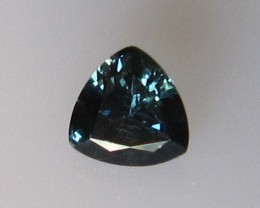 0.48cts Natural Australian Trillion Cut Blue Sapphire