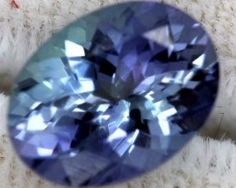 2.30CTS LOCEAN TANZANITE UNHEATED VIOET BLUE GREEN RNG-7