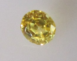 0.22cts Natural Australian Yellow Sapphire Oval Shape