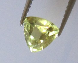 0.62cts Natural Australian Trillion Yellow Parti Sapphire