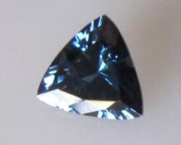 0.62cts Natural Australian Trillion Cut Blue Sapphire
