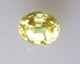 0.51cts Natural Australian Yellow Sapphire Oval Shape