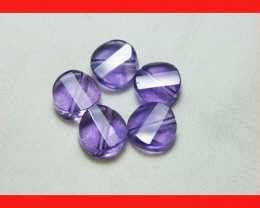 10cts 8mm Natural Brazil Amethsyt Faceted Beads Z549
