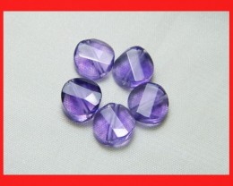 12cts 8mm Natural Brazil Amethsyt Faceted Beads Z556