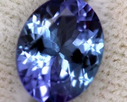 ZOISITE TANZANITE FACETED VIOLET BLUE 1.5  CTS RNG-24