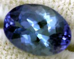 1.35 CTS TANZANITE FACETED VIOLET BLUE AQUA  RNG-25