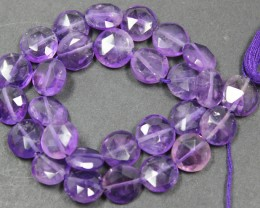73.00 CTS FACTED AMETHYST BEADS 28 PIECES