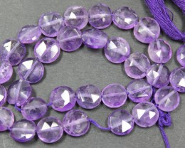 51.55 CTS FACTED AMETHYST BEADS 32 PIECES