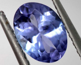 1.00 CTS  TANZANITE FACETED VIOLET BLUE RNG-37
