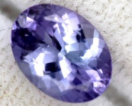 TANZANITE FACETED VIOLET BLUE 1.15 CTS RNG-39